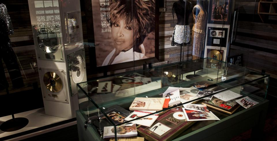 Memorabilia from Tina Turner Museum at Flagg Grove School in Brownsville