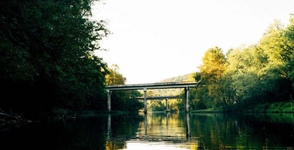 A bridge on the Caney River