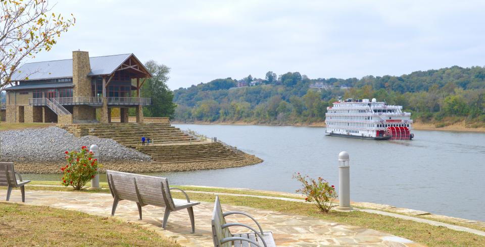 Near the water at Liberty Park in Clarksville