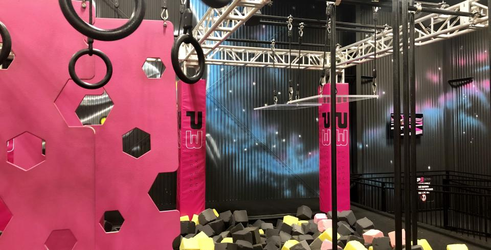 Rings and foam pits at Plan3t Extreme Air Park