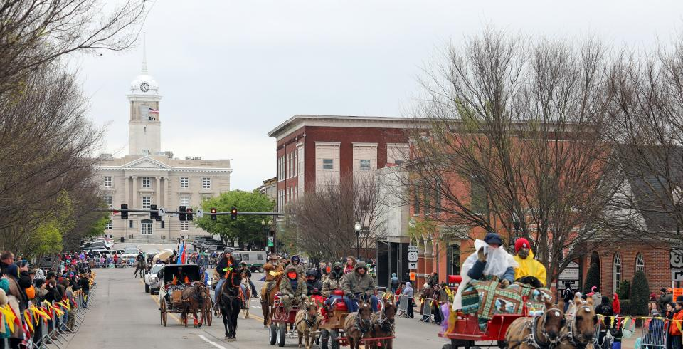 Mule Day parade in Columbia, TN