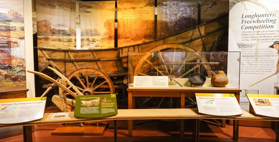 Pioneer exhibit at East TN History Center, Knoxville TN