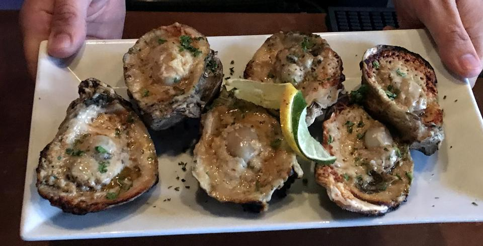 Ebel's Tavern charbroiled oysters