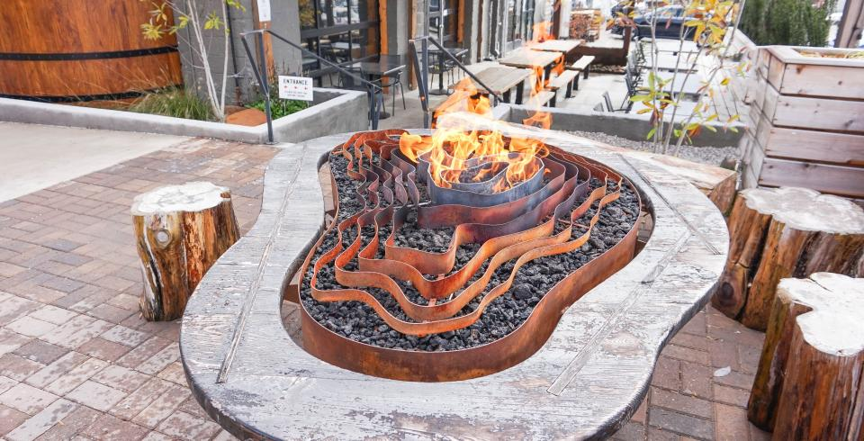 Cozy up by a firepit at Elkmont Exchange in Knoxville