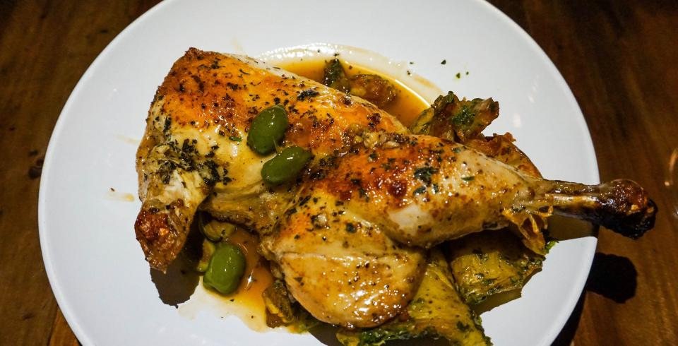 Tender chicken at Emilia Italian in Knoxville