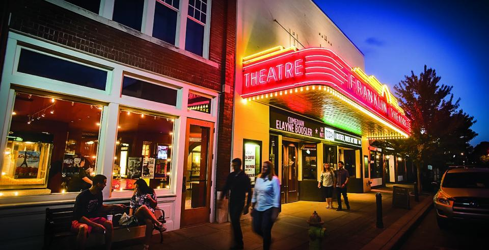 The Franklin Theatre in downtown Franklin, Tennessee