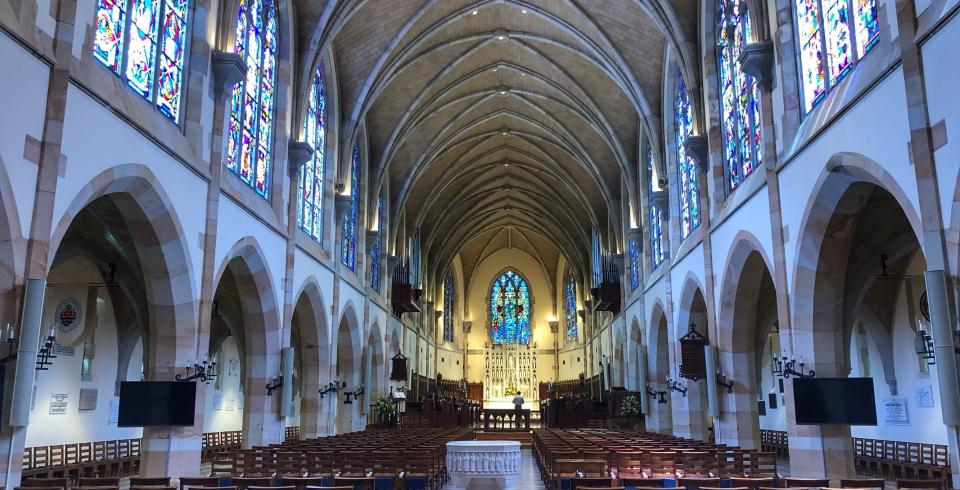 Inside All Saints Chapel at the University of the South in Sewanee TN