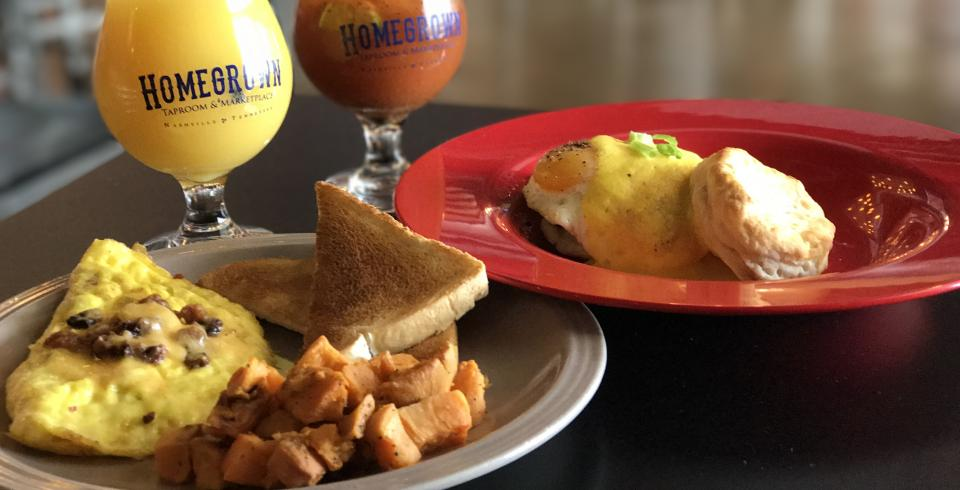 Have brunch at Homegrown Taproom in Nashville