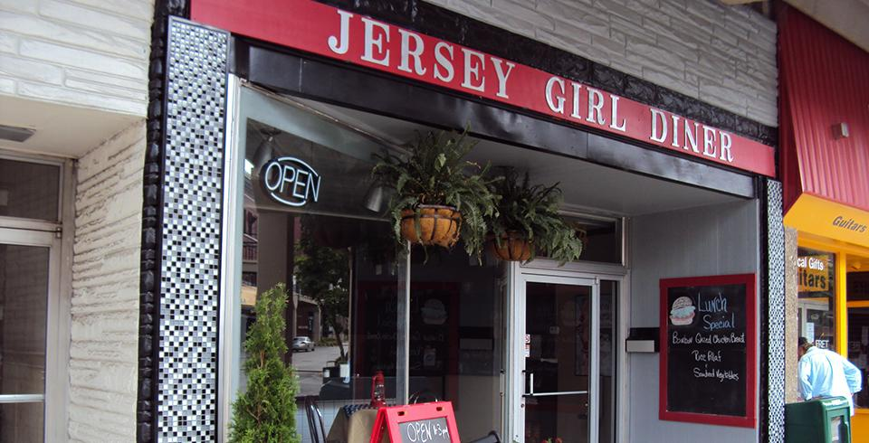 The exterior of Jersey Girl Diner in downtown Morristown.