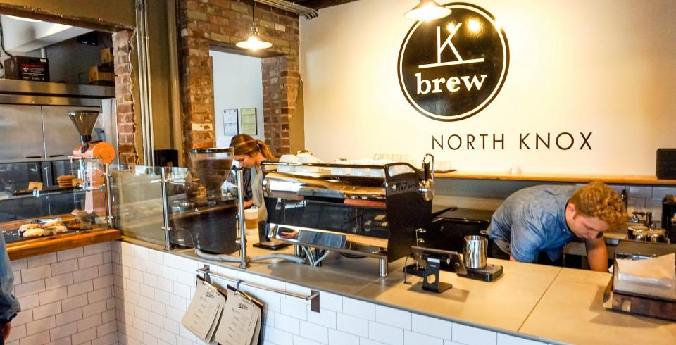 K Brew Coffee serves coffee and has hammocks in Knoxville TN