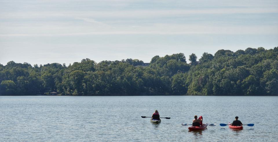 Kayak on Watts Bar Lake, Loudon County, TN