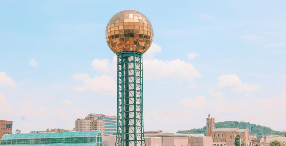 Sunsphere on a clear day in World's Fair Park in Knoxville TN