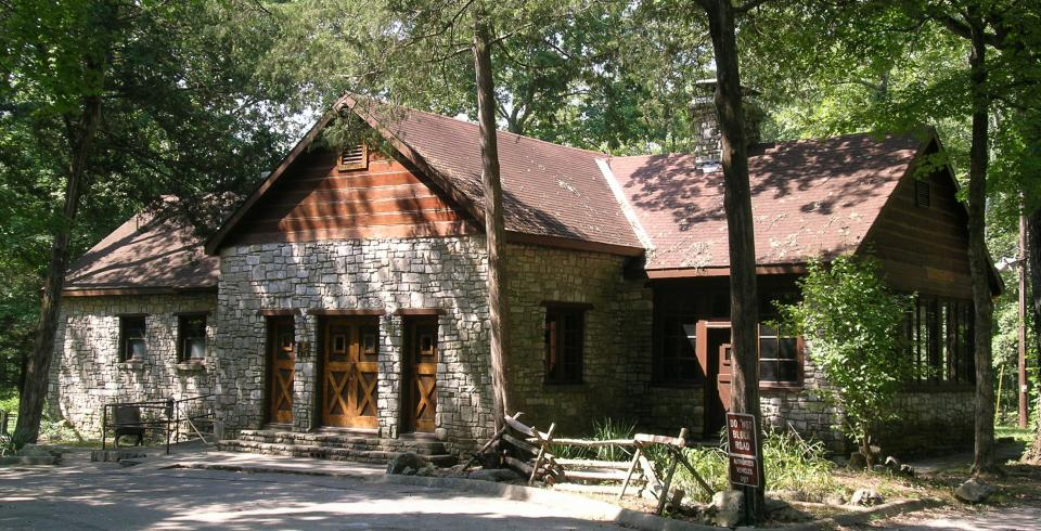 The lodge at Cedars of Lebanon State Park in Tennessee