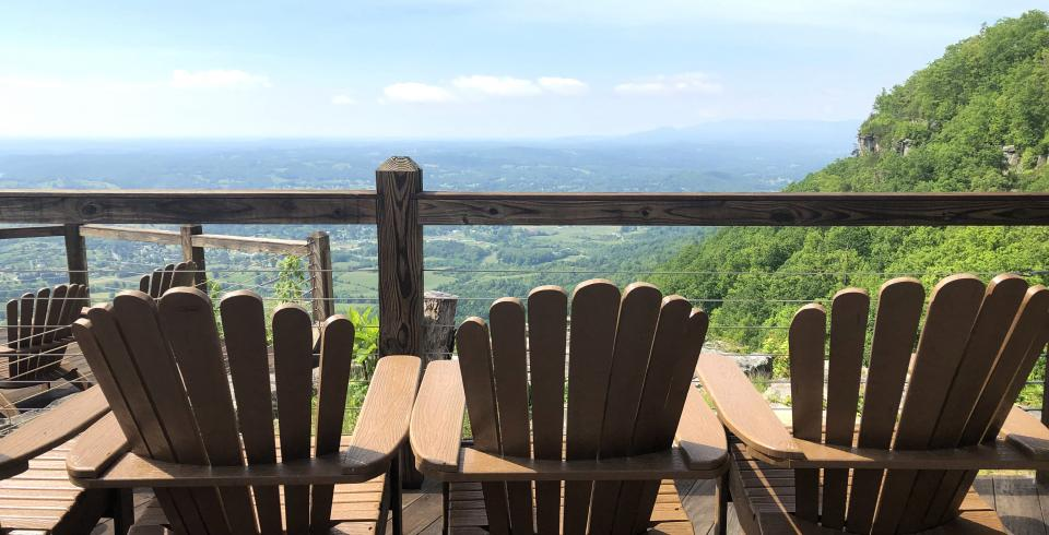 Patio views from McCloud Mountain Restaurant & Lodge