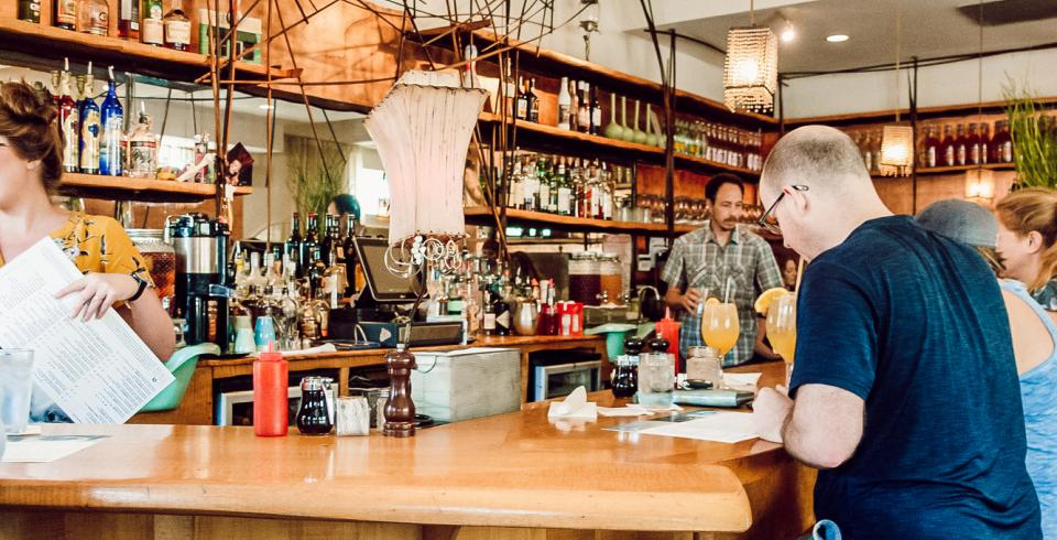 A man breakfast at The Beauty Shop in Memphis TN