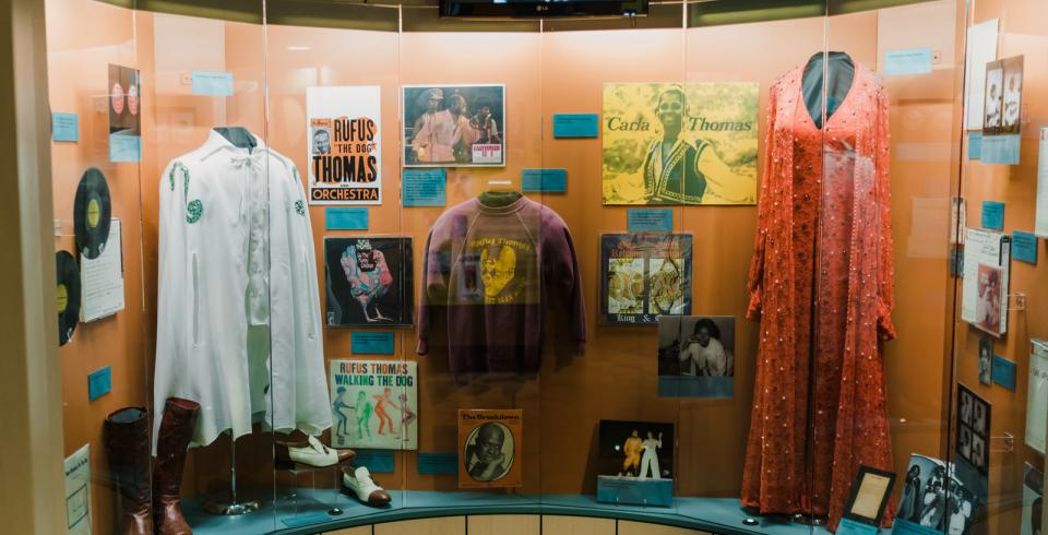 Stage costumes at Stax Museum of American Soul Music in Memphis TN