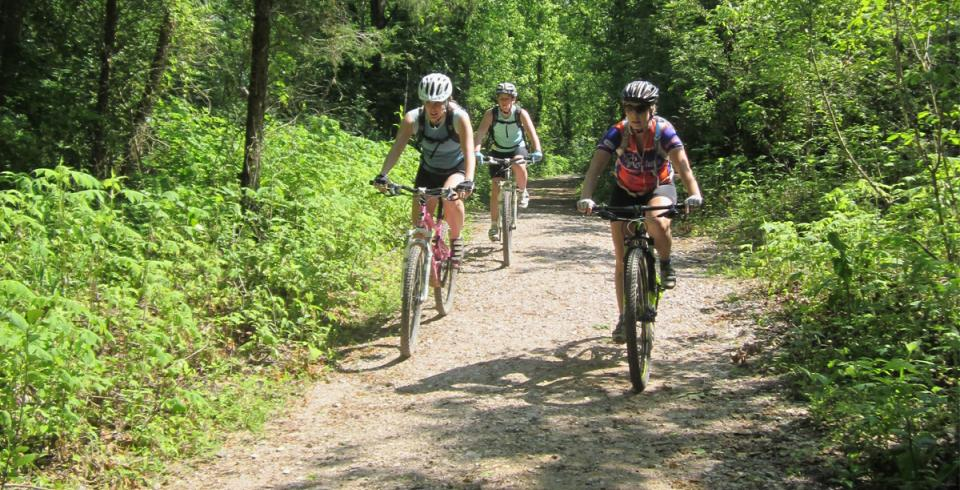 Mountain biking in Knoxville's Meads Quarry