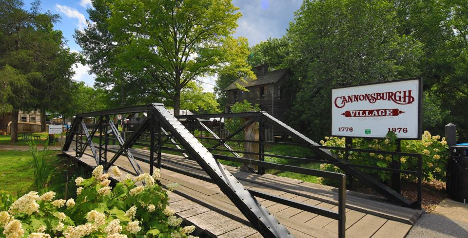 A crossing bridge at Cannonsburgh Village in Murfreesboro, Tennessee