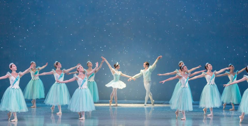 The dance of the sugarplum fairies at the Nutcracker