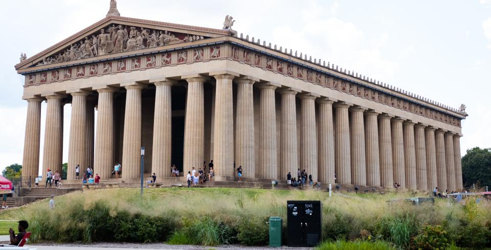 The exterior of the Parthenon in Nashville
