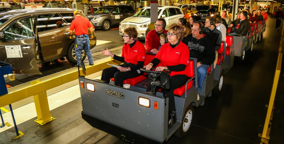 A tour group at Nissan plant in Smyrna, Tennessee.