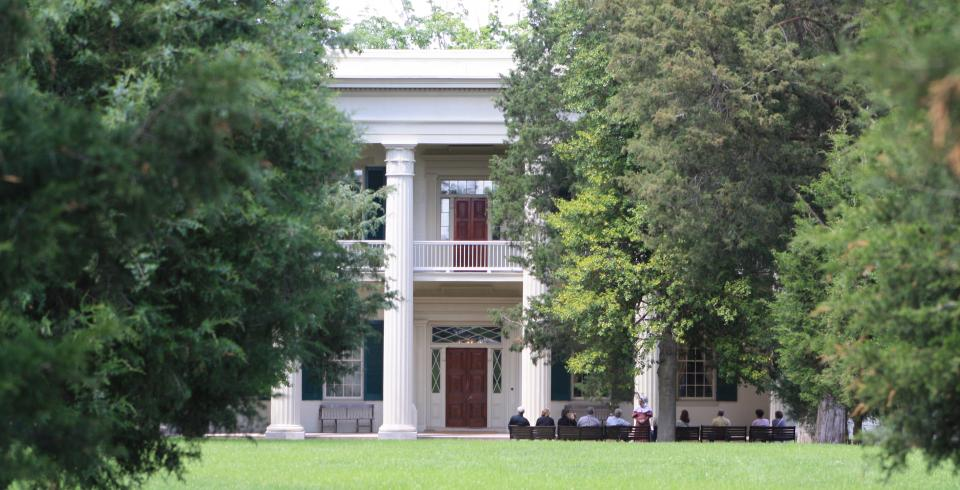 The exterior of Andrew Jackson's The Hermitage in Nashville