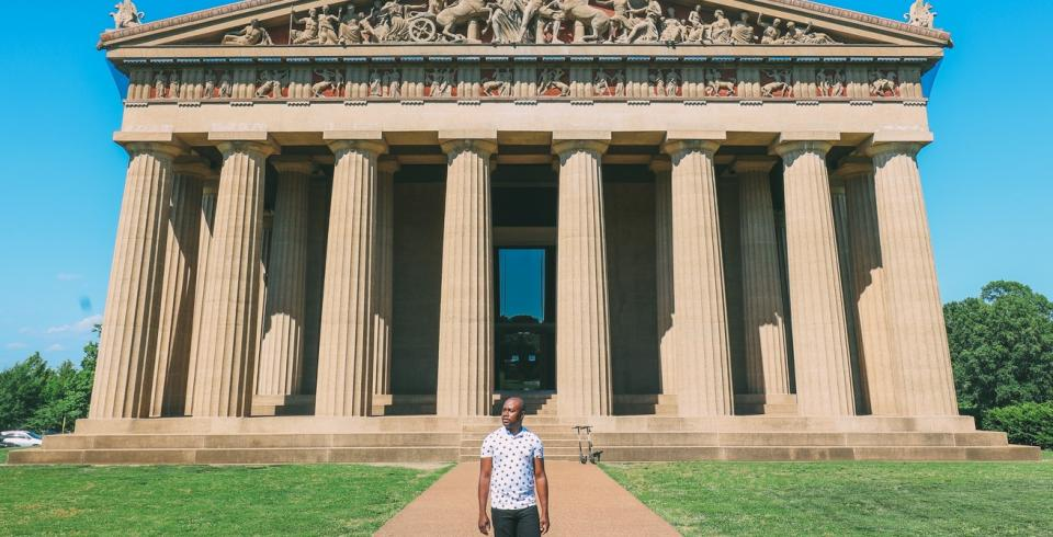 The Parthenon in Centennial Park in Nashville TN