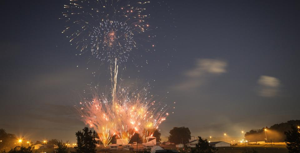 Fireworks set off in Cookeville, Tennessee