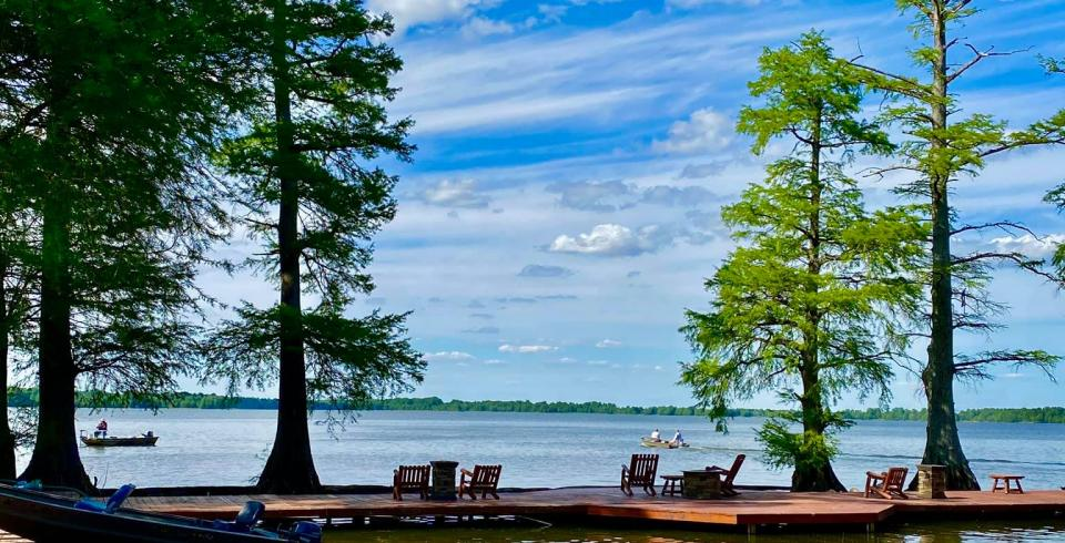 Boats at Reelfoot Lake in Tiptonville TN