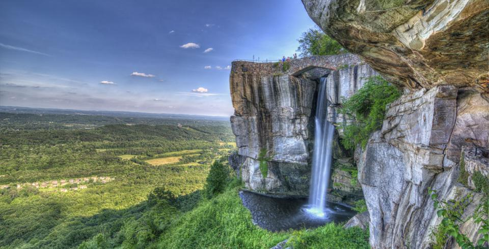 View from Lover's Leap at Rock City in Chattanooga