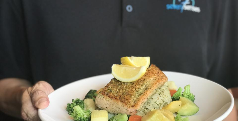 Seven Senses' Grilled Atlantic Salmon