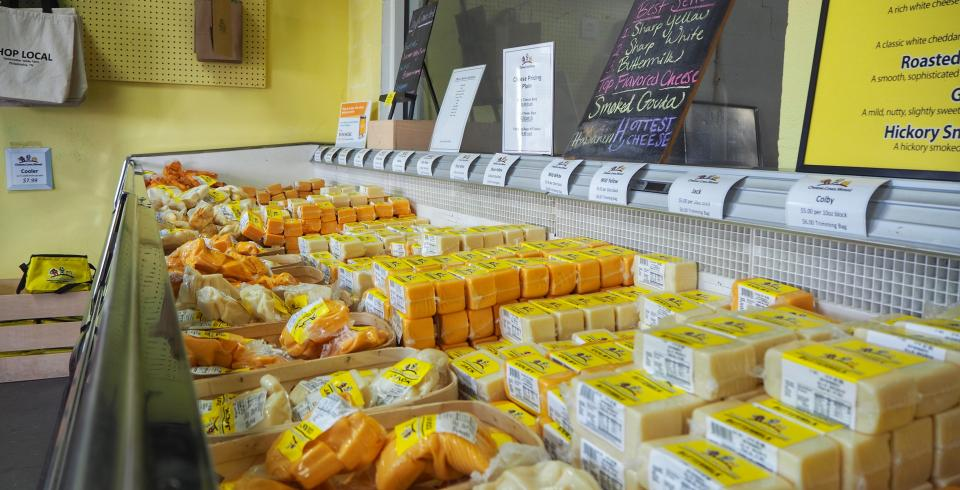 Endless cheeses at Sweetwater Valley Farm, Philadelphia TN