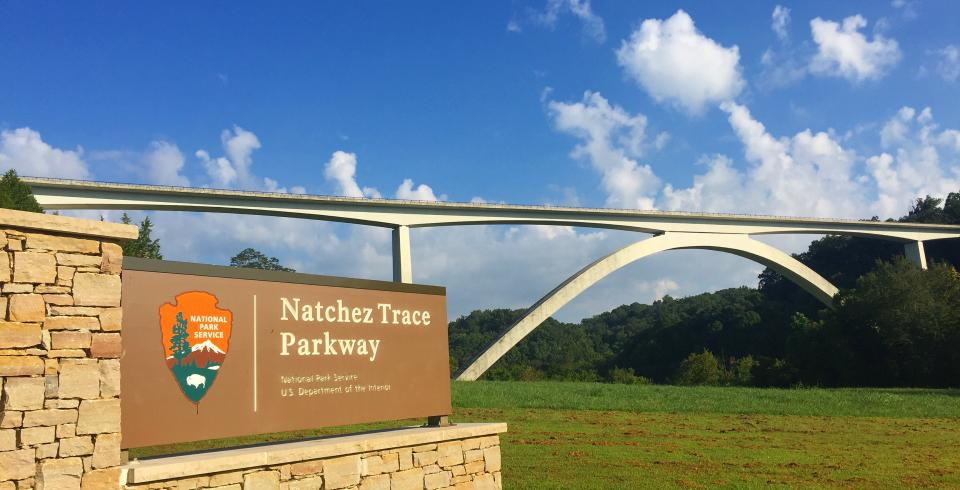 The Natchez Trace Parkway Double Arch Bridge
