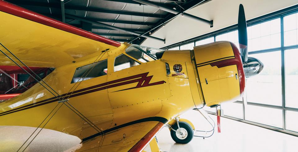 A vintage airplane at Beechcraft Heritage Museum in Tullahoma TN