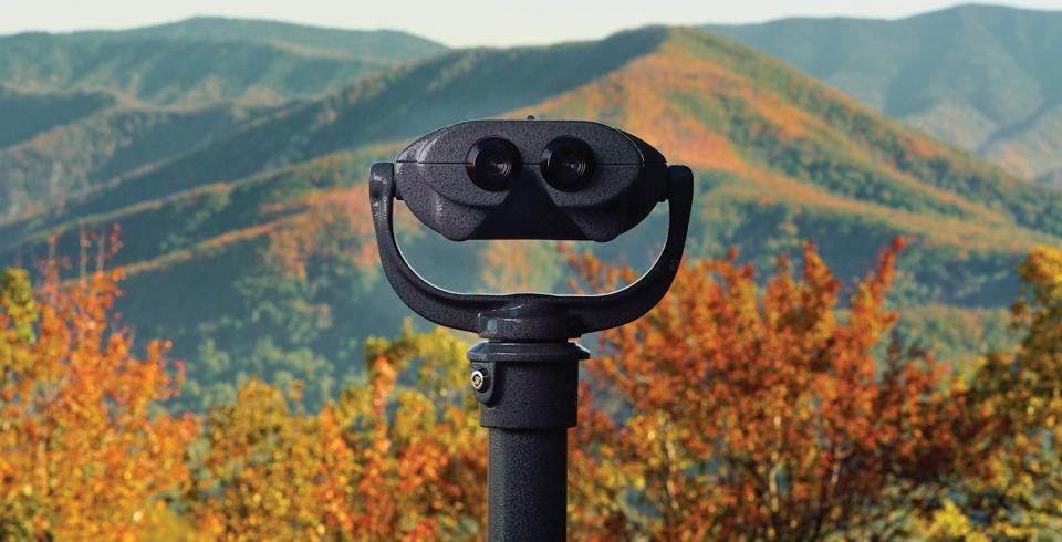 Colorblind viewfinder located in the Smoky Mountains.