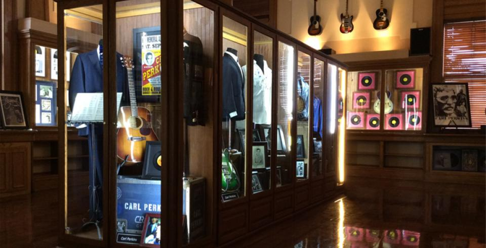 A Carl Perkins exhibit at The Legends of TN Music Museum in Jackson, TN.