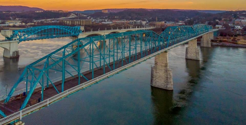 An aerial view of Chattanooga, Tennessee