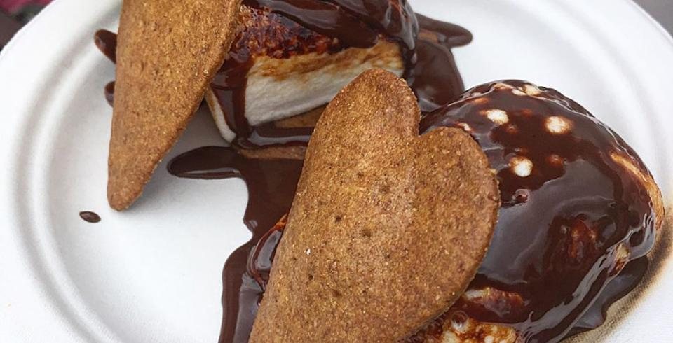 Marshmallows, graham cracker and chocolate dessert from S'more Love Bakery