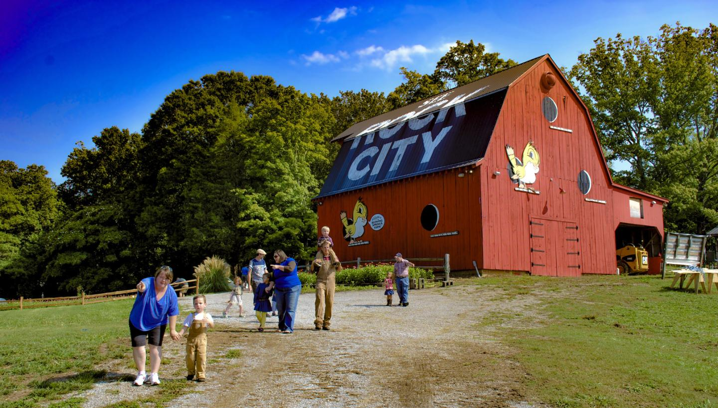 Rock City's Blowing Springs Farm featuring the Enchanted MAiZE