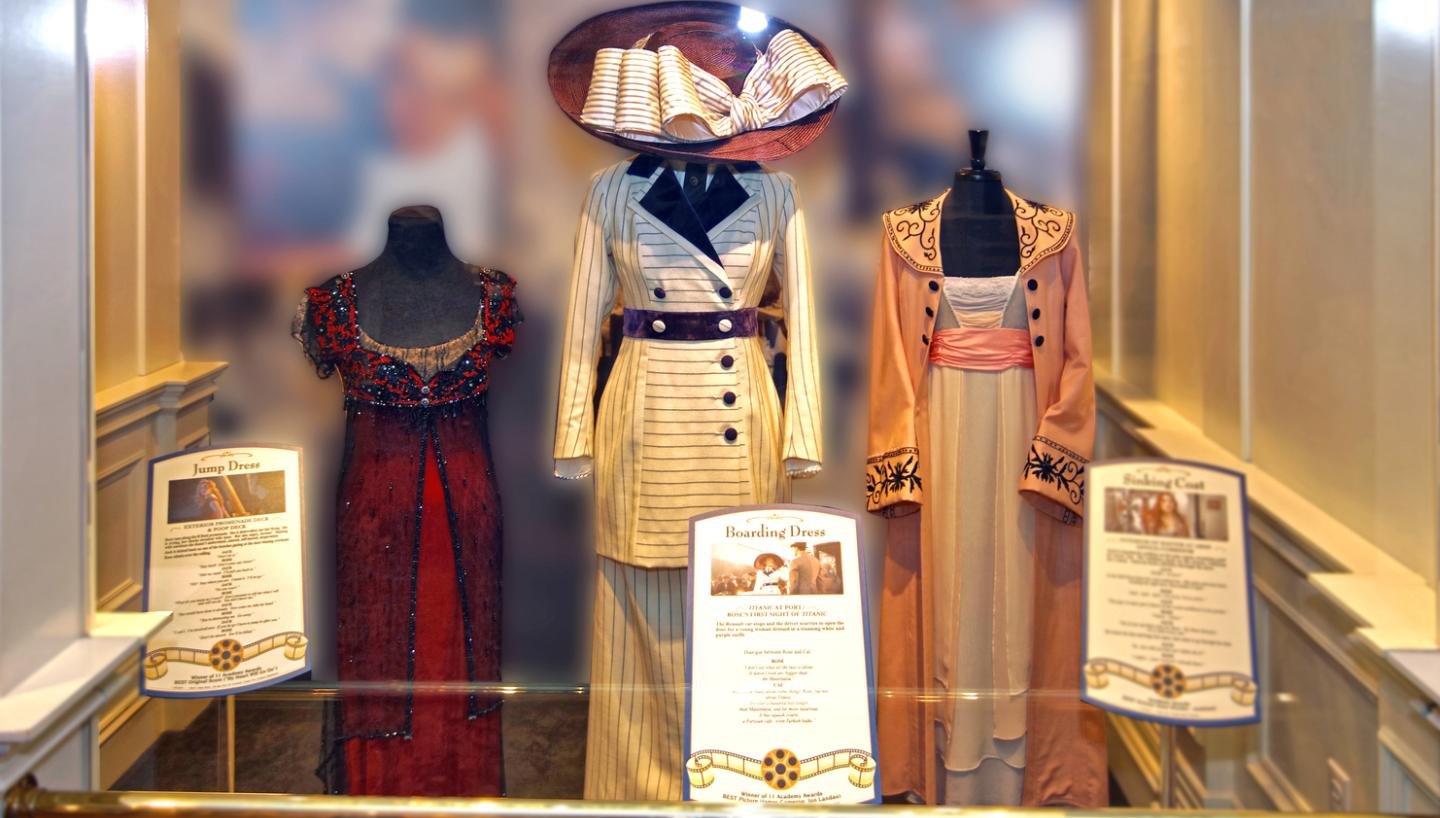 Titanic Movie Costumes on display in Pigeon Forge - LIMITED ENGAGEMENT
