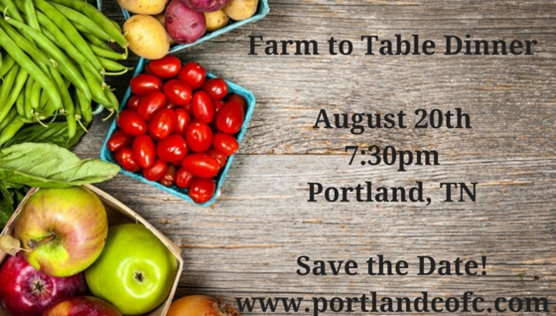 Portland, TN Farm to Table Dinner