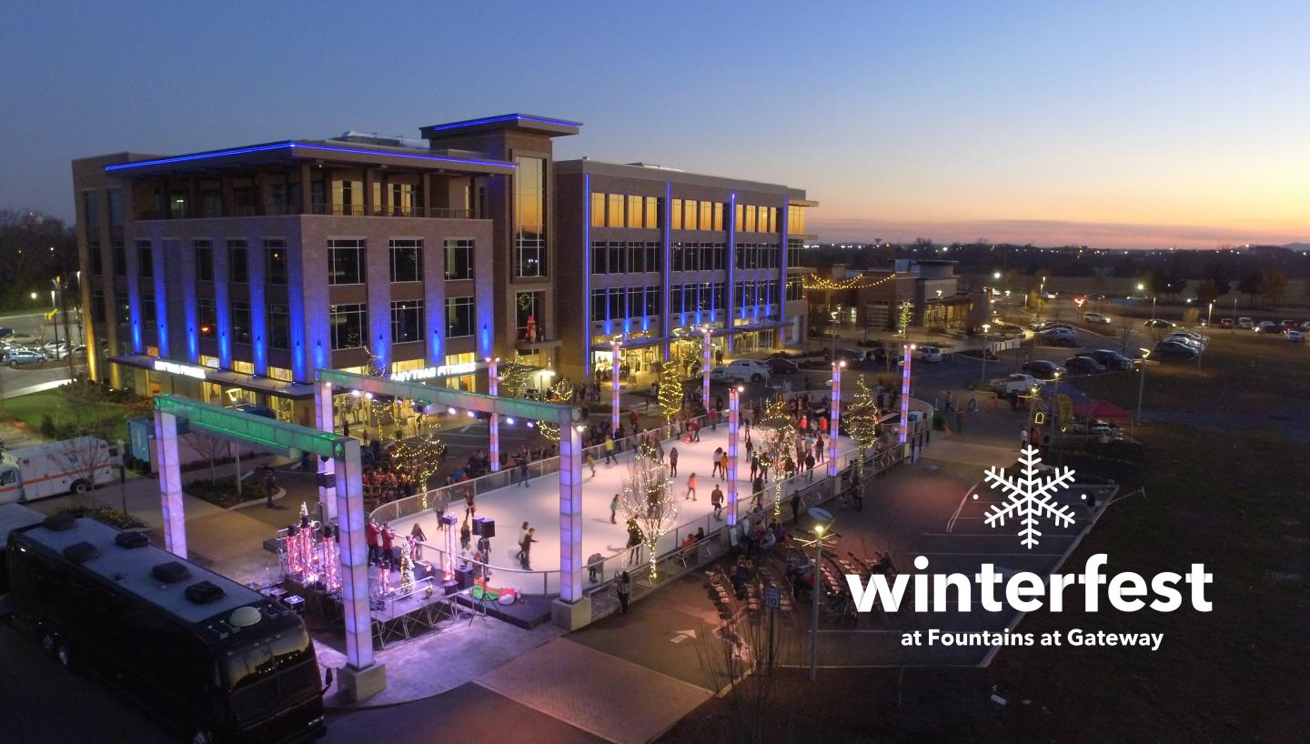 Winterfest at Fountains at Gateway in Murfreesboro, TN - Tennessee Vacation
