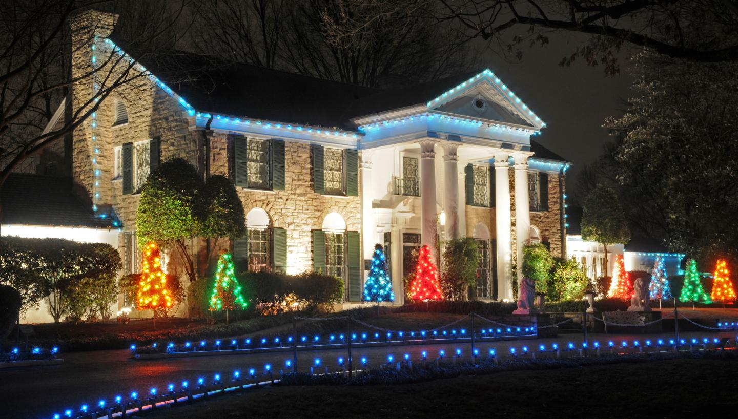 graceland s annual lighting ceremony in memphis tn tennessee vacation