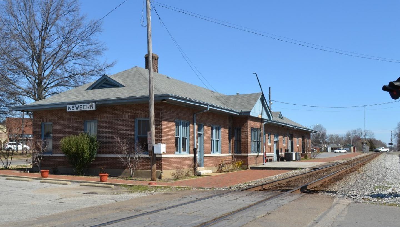 Newbern-Dyersburg Amtrak Station in Newbern, TN - Tennessee