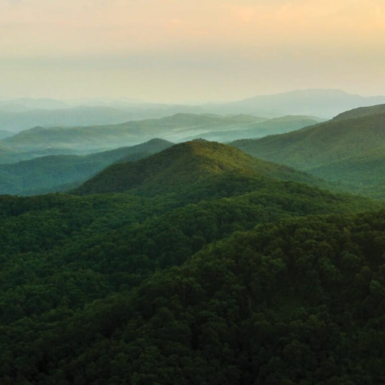 Scenic view of Tennessee mountains