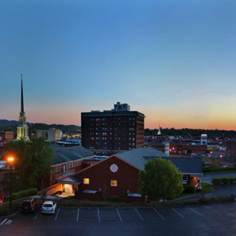 Downtown Johnson City Tennessee Stock Photo - Download