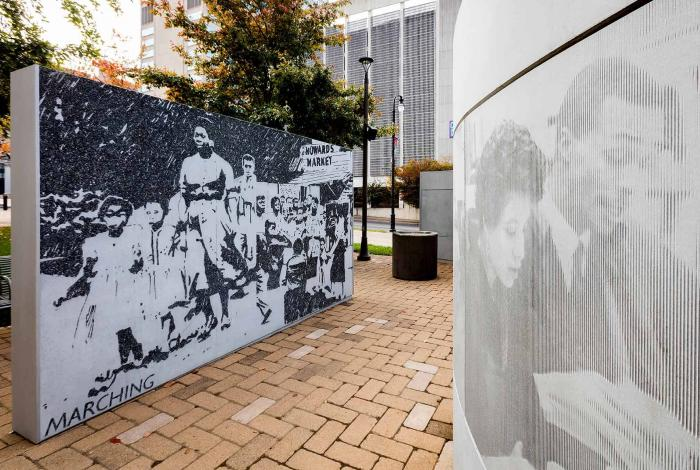 Witness Walls in Nashville on the US Civil Rights Trail