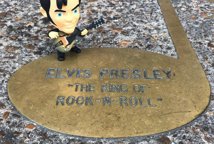 Elvis Presley's brass note on the Walk of Fame in Memphis