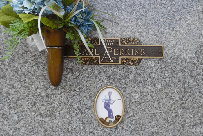 Carl Perkins Memorial at his Gravesite
