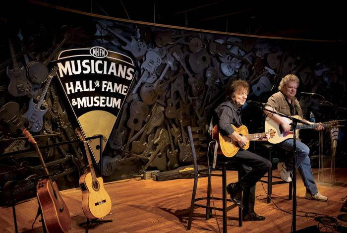 A concert inside the Musicians Hall of Fame